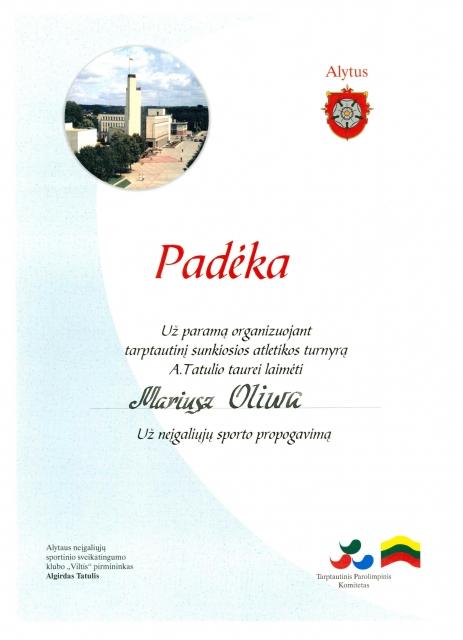Certyfikat--Litwa